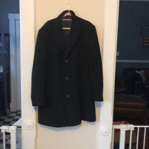 Men's wool blend top coat